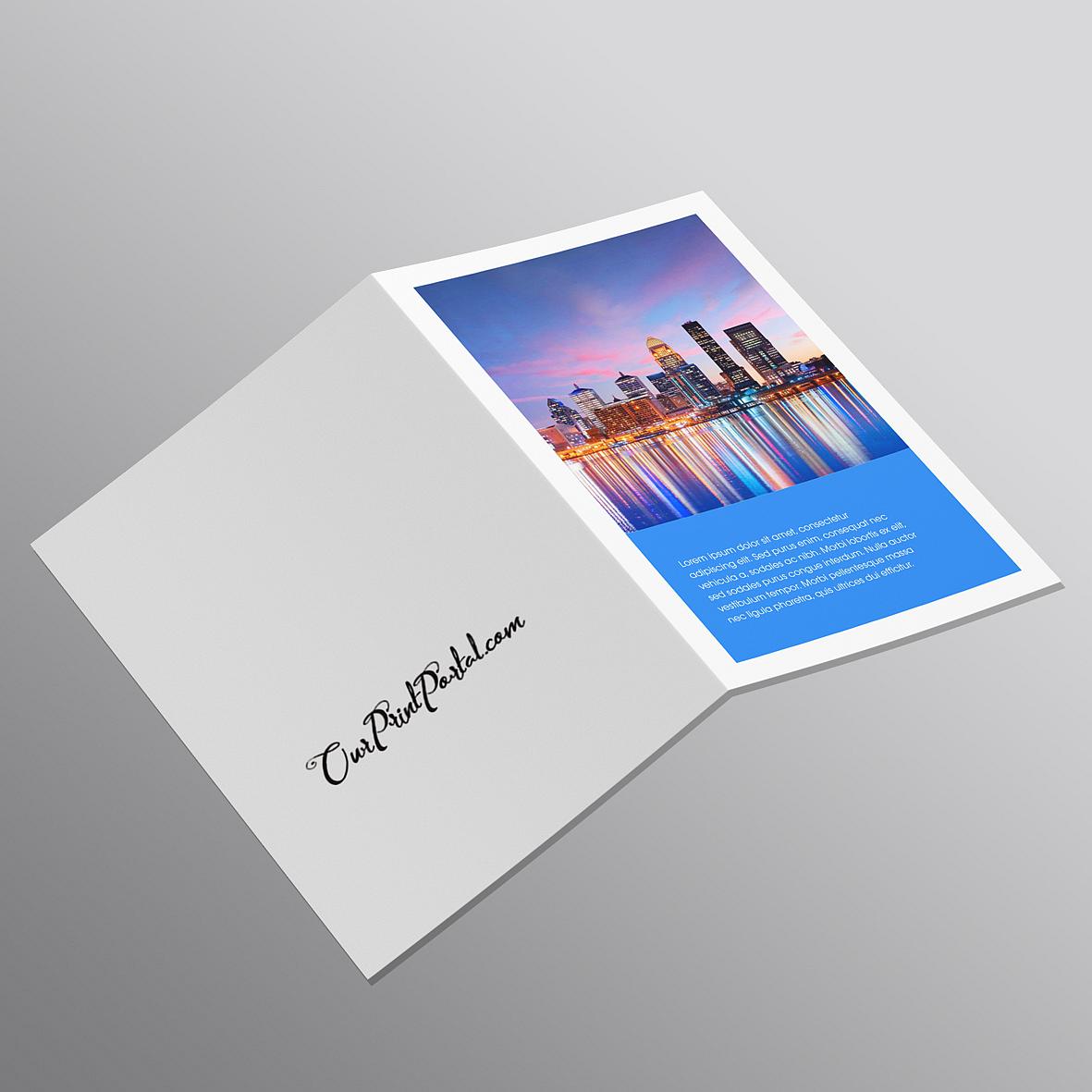 Litho Folded Promo Cards